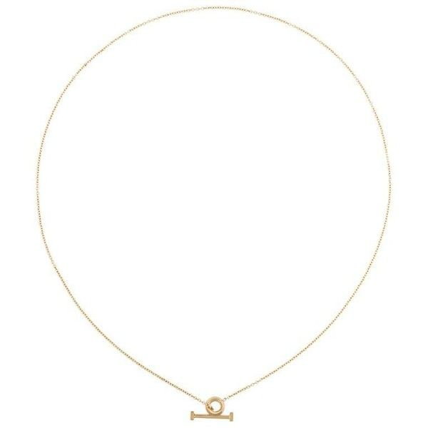 By Boe Circle & Pin lariat necklace (880 SEK) ❤ liked on Polyvore featuring jewelry, necklaces, metallic, by boe necklace, circle jewelry, circle necklace, by boe jewelry and by boe