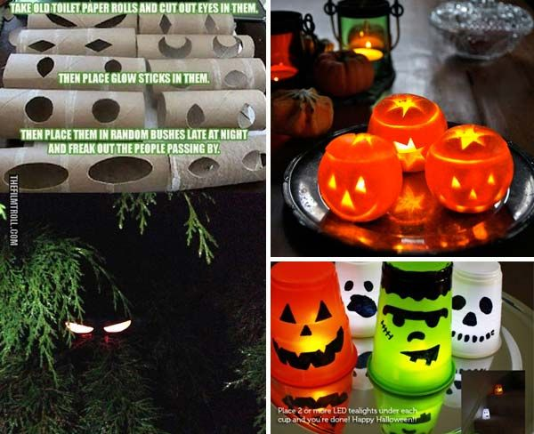 19 easy and spooky diy lights for halloween night halloween party decorhalloween - Diy Halloween Party Decorations