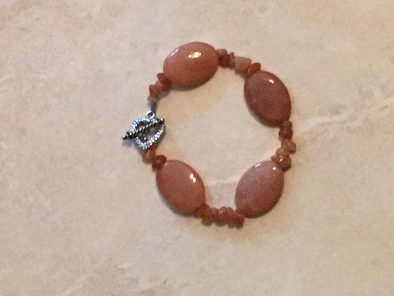 Red Aventurine Bracelet by IndianSummerSkies on Etsy
