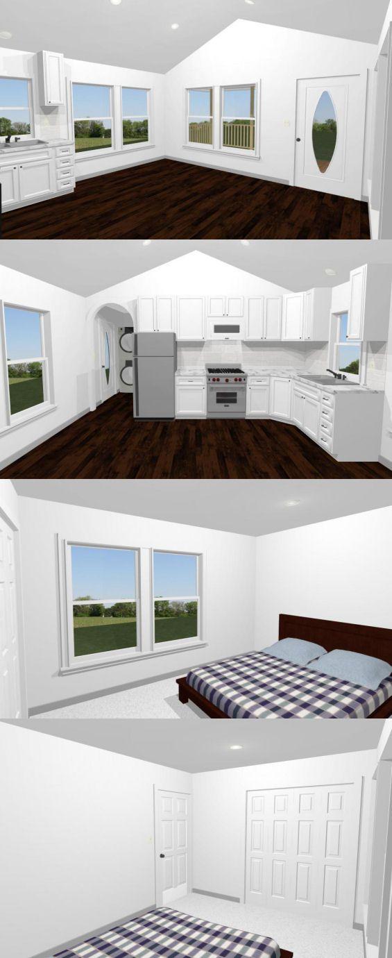 10x10 Bedroom Floor Plan: 16x32 House -- #16X32H3C -- 511 Sq Ft