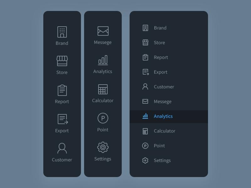Sidebar Sidebar Design Web Layout Design Web App Design