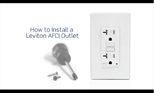 Video Shows You How To Install A  Leviton Afci Outlet In