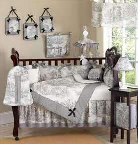 Image Detail For Black And White Toile Lime Green French Country Baby Bedding Nursery Girl Crib Bedding Sets Baby Crib Bedding Sets Crib Bedding Sets