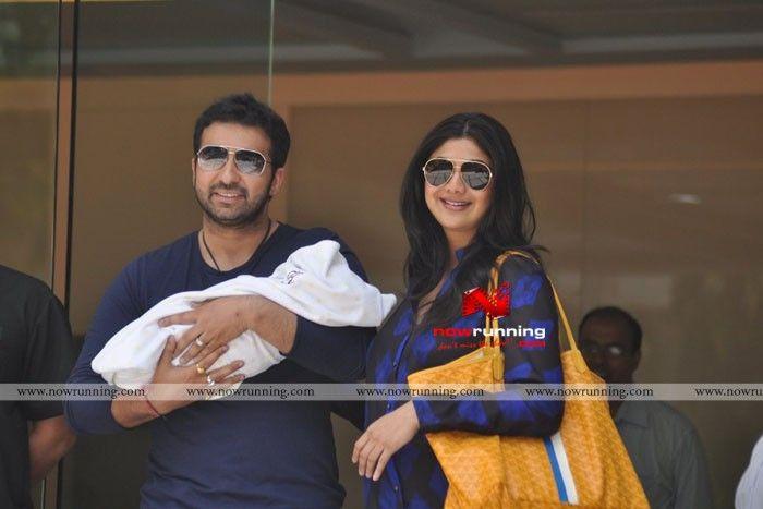 Shilpa Shetty Kundra And Raj Kundra Pose With Their New Born Baby