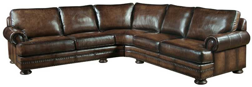 Bernhardt Foster Sectional Sofa 50l Very Nice I Love Nail Head Roll Arm Couches Nice Vintage Look To Them Leather Sectional Leather Furniture Sectional
