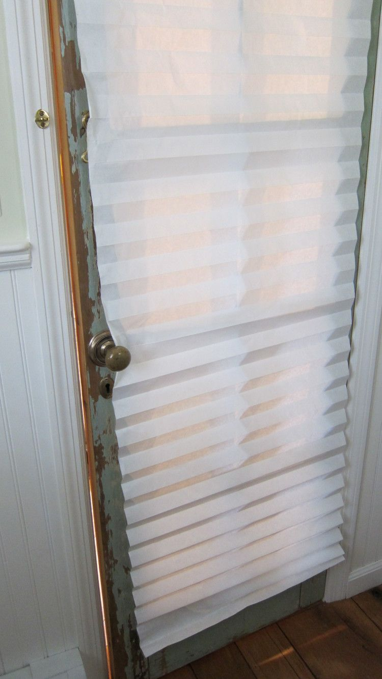 French Door Curtain Temporary Redi Shade Paper Window Covering On