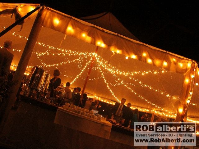 Vintage Edison bulb string lighting in the tent & tent wedding lighting | ...  Rhode Island Areas MA/CT/RI » Tent ...
