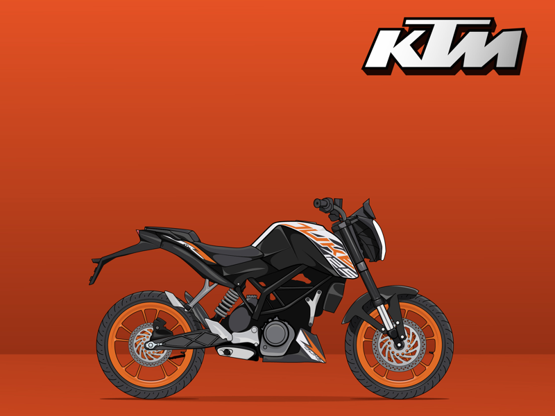 Ktm Duke Vector With Images Ktm Duke Ktm Duke