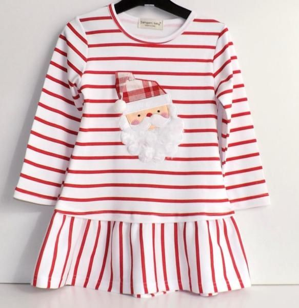 Kinderkleid Langarmkleid Tunika Weihnachtskleid Gr. 110