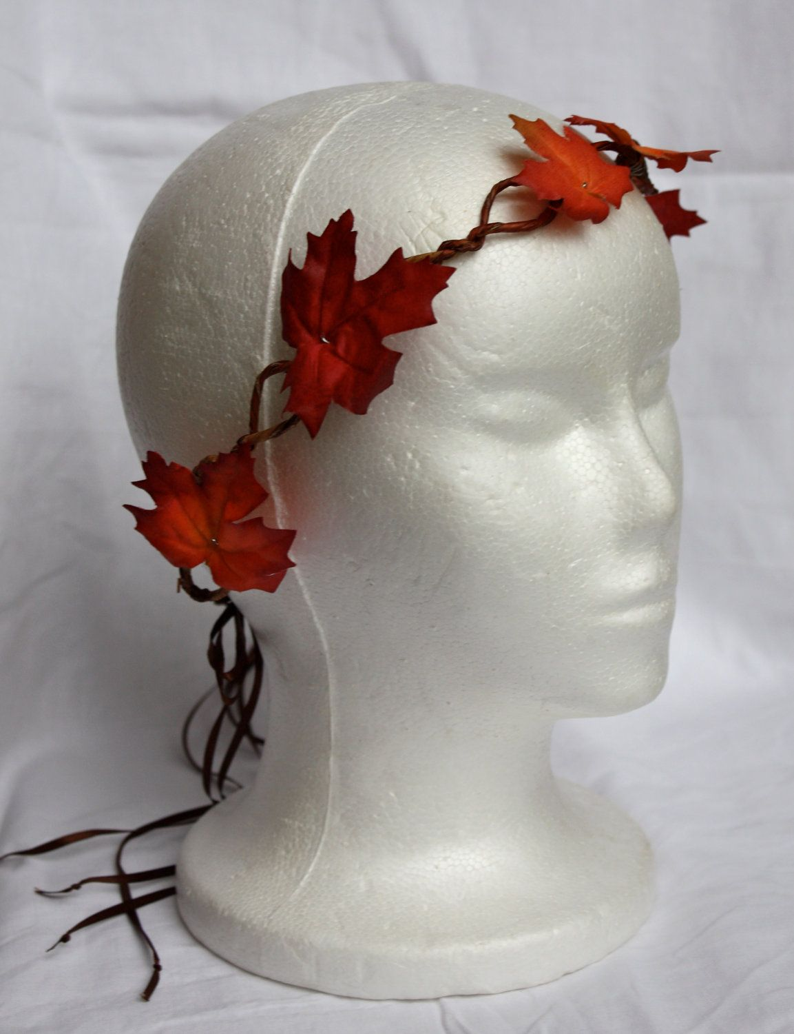 Red Leather Leaf Crown