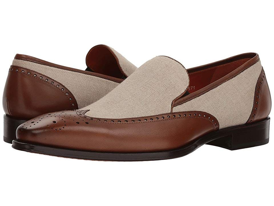 Mezlan Lund CognacBone Mens Shoes It dont mean a thing if it aint got that classic look with the Mezlan Lund Smooth leather and textile upper Slipon construction Classic...