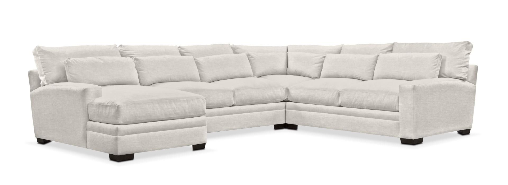 Pleasant Winston Cumulus 4 Piece Sectional Sofa With Left Facing Camellatalisay Diy Chair Ideas Camellatalisaycom