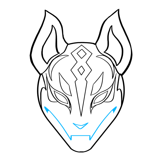 How To Draw Drift Mask From Fortnite Really Easy Drawing Tutorial Easy Drawings Drawing Tutorial Drawings