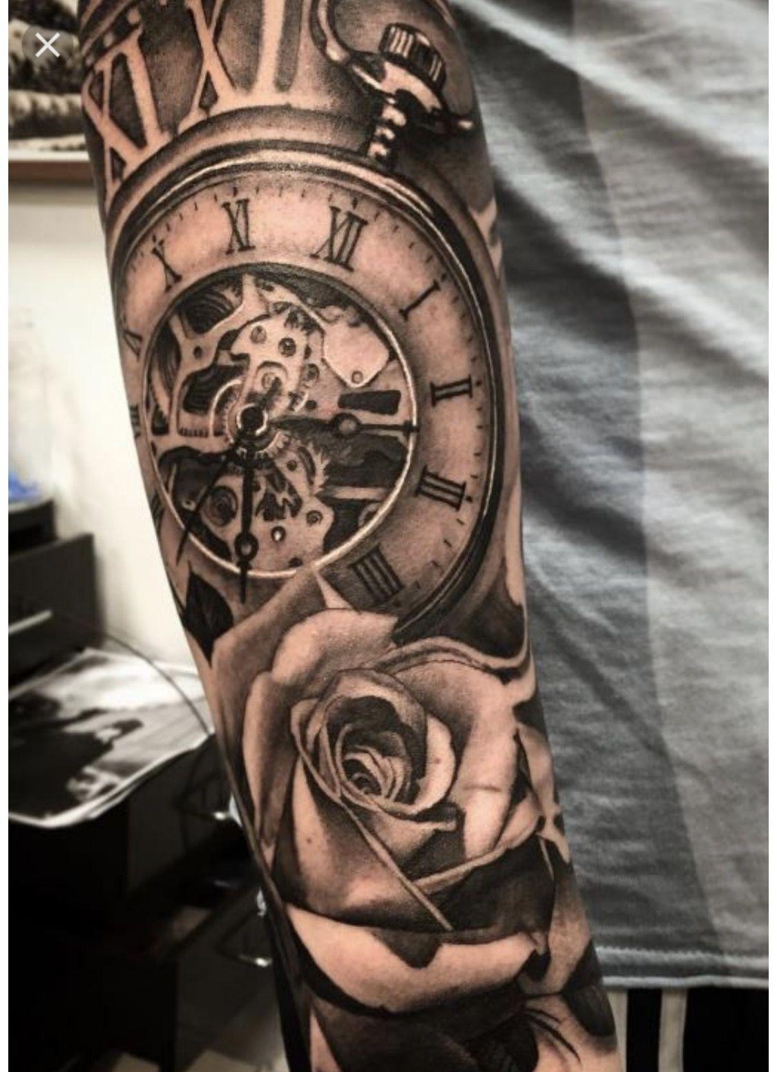 Timeless Tattoo Mens Fashion Ink Uhr Tattoo Vorlagen