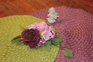 Декор из цветов для занавесок. Цветы из фоамирана. #home decor #interior