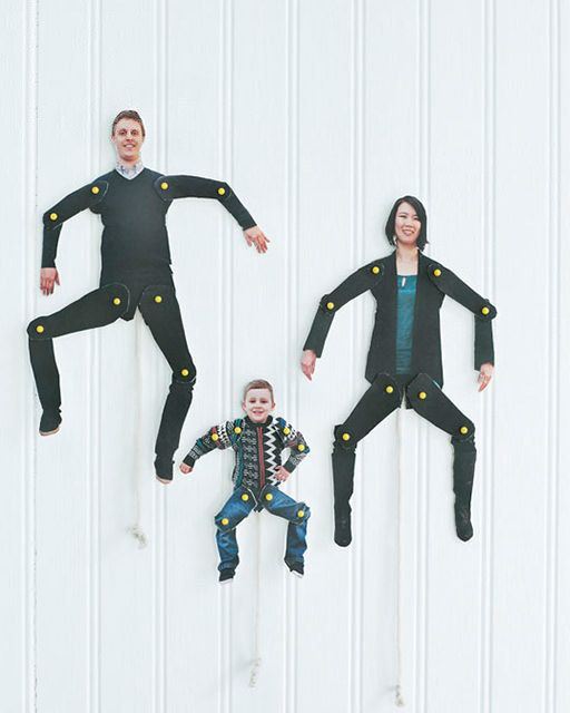 Know what's funny? Turning your family into dancing cutouts. | 22 Silly DIY Projects That Will Make You Laugh Out Loud