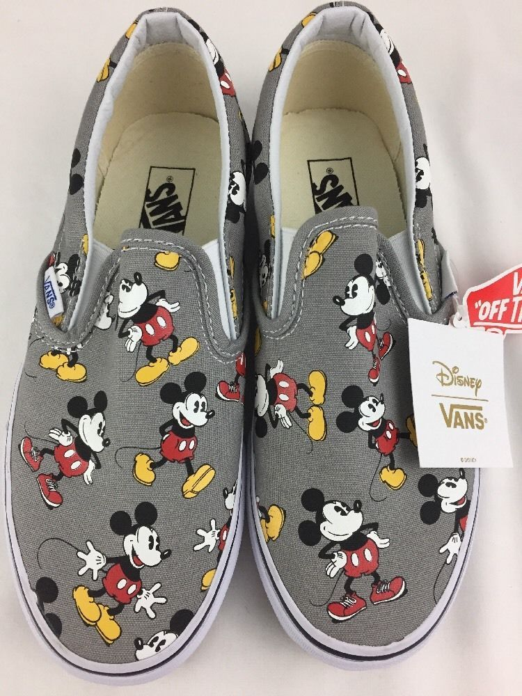 Disney Vans Slip On Shoes Mickey Mouse