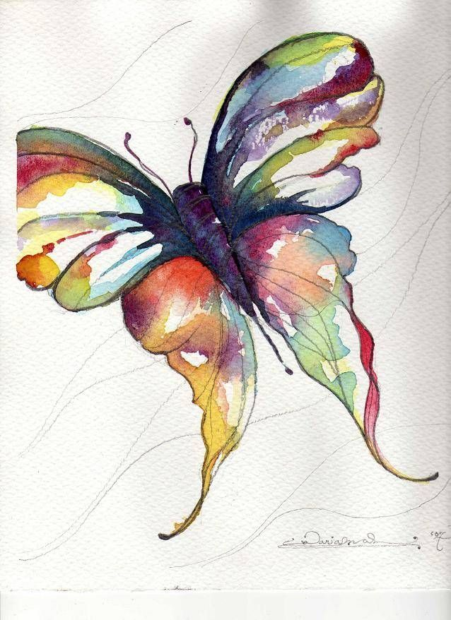watercolor butterfly | Watercolor butterfly… | Art instruction and tutorials