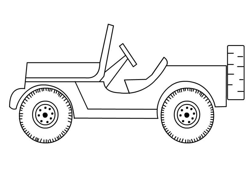 Coloring Jeep Pages Safari 2020 Coloring Pages To Print