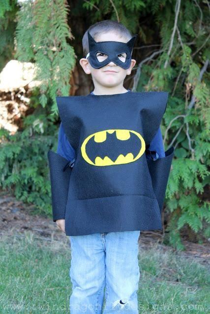DIY No Sew Batman Costume DIY Halloween disfraces Pinterest - twin boy halloween costume ideas