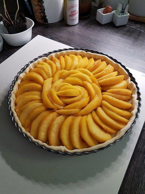 Der Pfirsichkuchen, mein Favorit des Sommers Audrey Cuisine