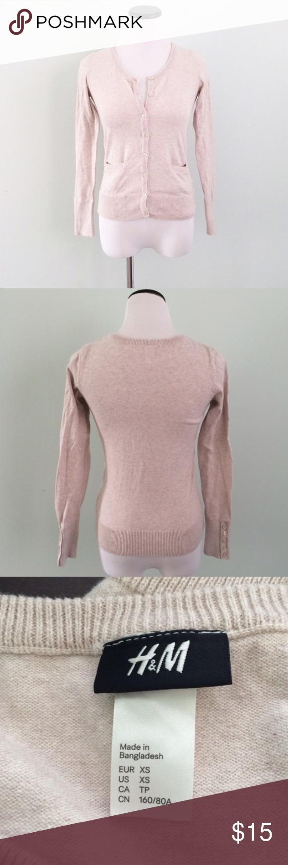 H&M Cream Cardigan Sweater | Cream cardigan and Cotton