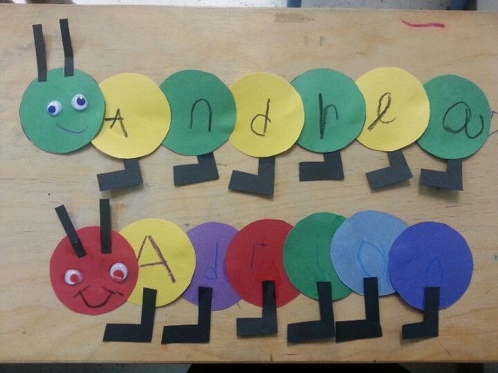 Caterpillar Name *This activity can be used in many ways. Some ideas are: - to helps children create a pattern - to help children identify colors - to help children identify/write/learn the letter in their name - to help children count