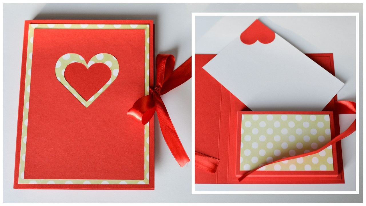 How To Make Greeting Card Box Valentines Day Step By Step Diy