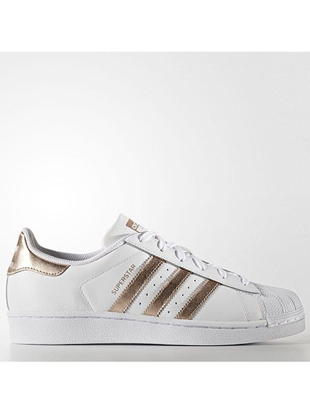 Adidas Originals Superstar Women And Men White Gold BB1428 Trainers Casual Sneaker