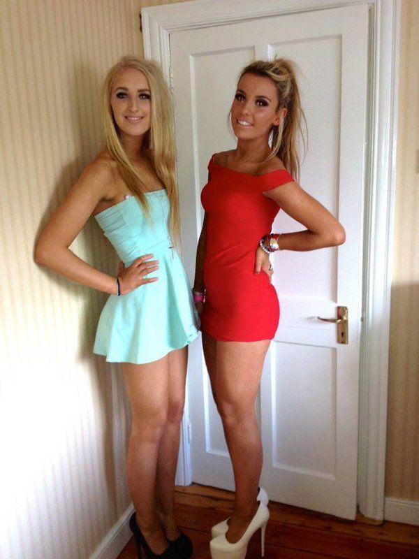 Lesbians in short skirts