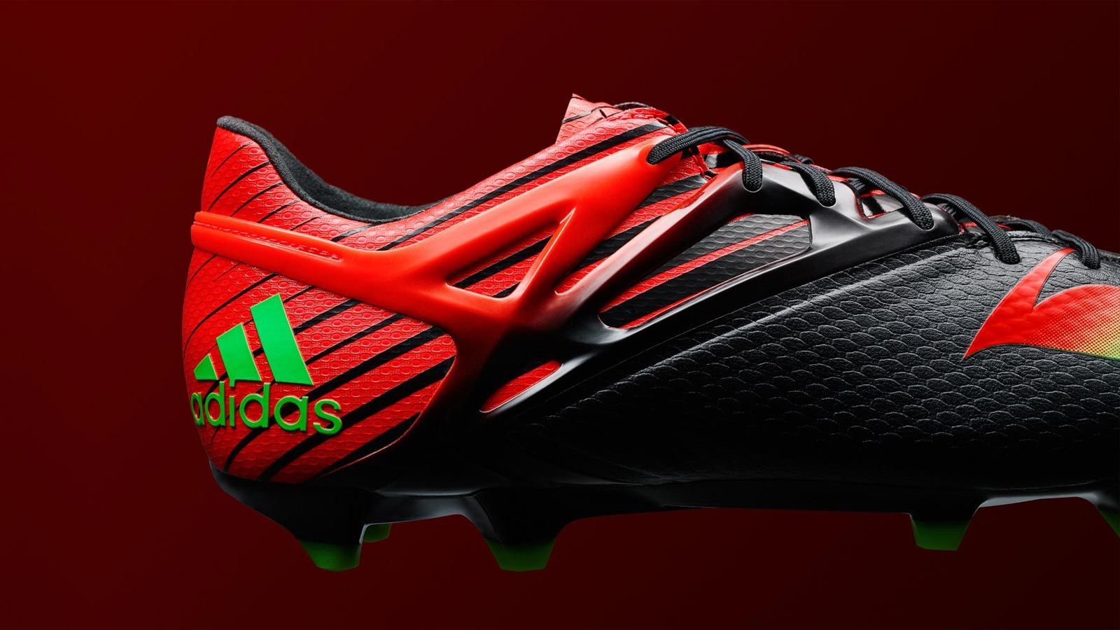 The new black   red Adidas Messi 2015-2016 Football Boot features an  extremely bold design. Leo Messi is set to wear the new Black   Solar Red    Green ... 618aba03efb2c