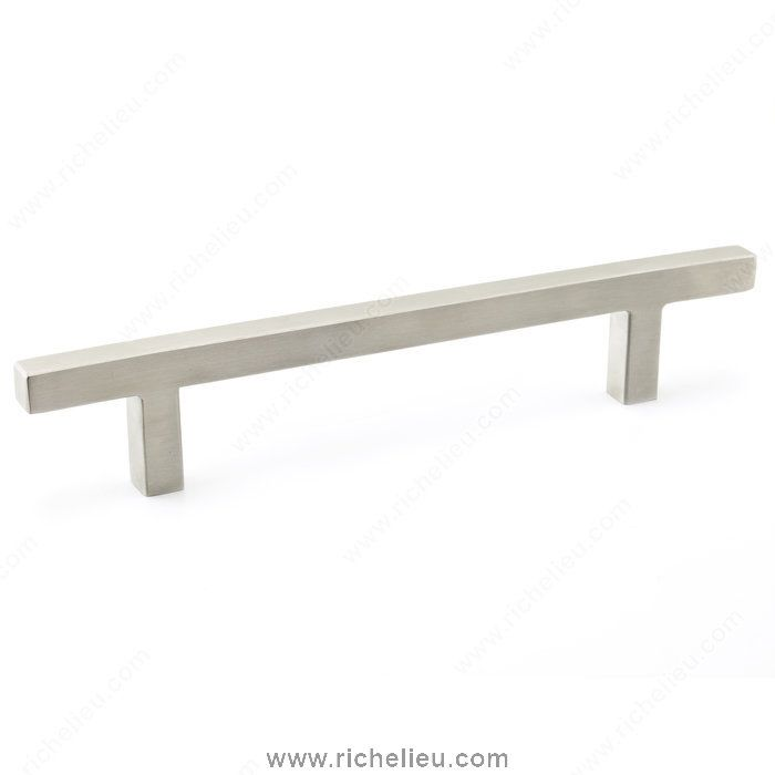 richelieu 5 inch center to center bar cabinet pull from the expression stainless steel cabinet hardware pulls bar