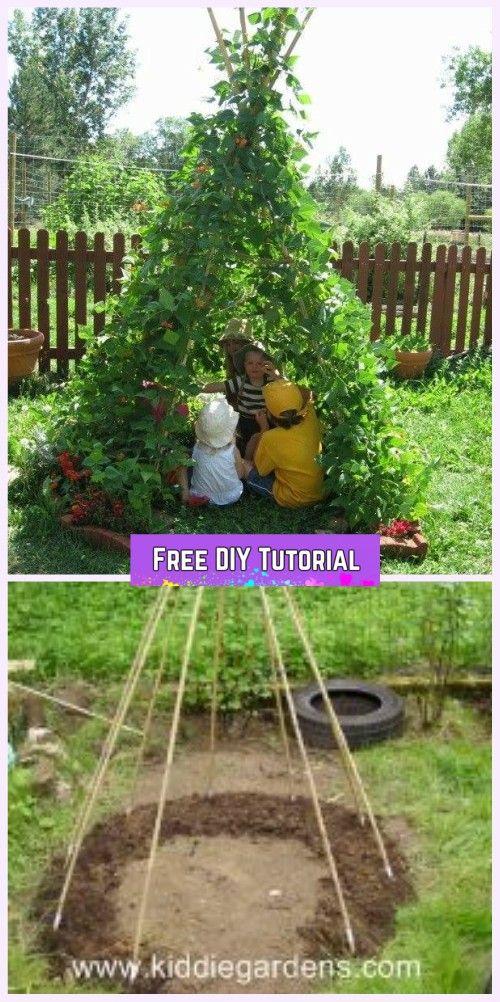 DIY Living Green Teepee Playhouse Tutorial | Play houses ...