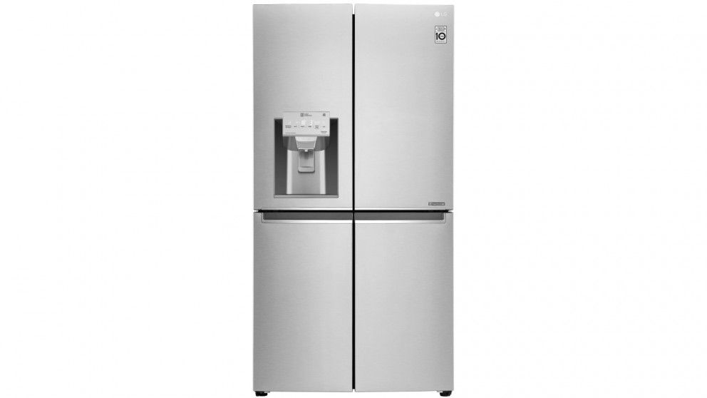 Lg 708l French Door Fridge With Ice Water Dispenser Brushed Steel Fridge French Door Brushed Steel Water Dispenser