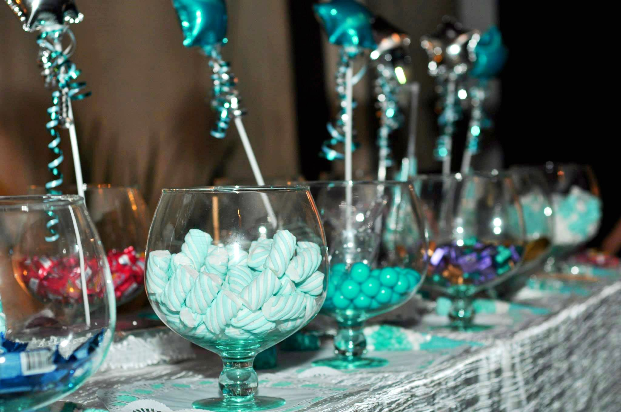 Turquoise / Teal  Candy Buffet / Candy Bar / Candy Table