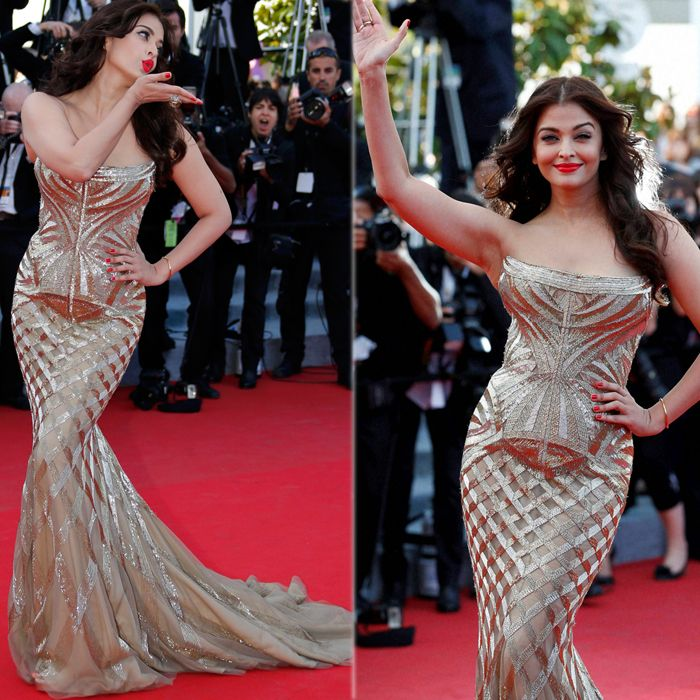 Beauty Is Back Aishwarya Rai At Cannes 2014style Icon India