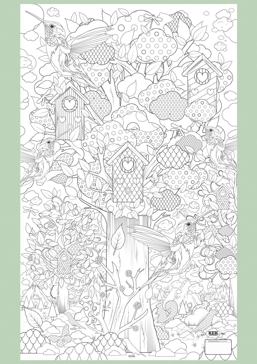 Supersized Colouring Picture In The Forest Peinture
