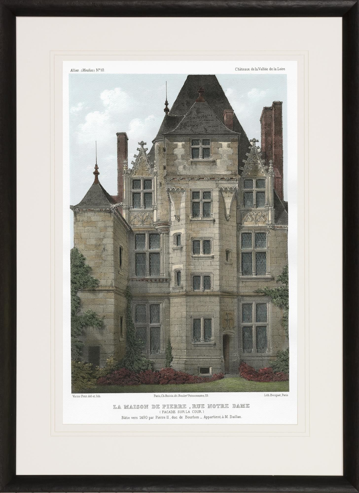 Chateaux of the Loire Valley by Victor Petit Framed Painting Print