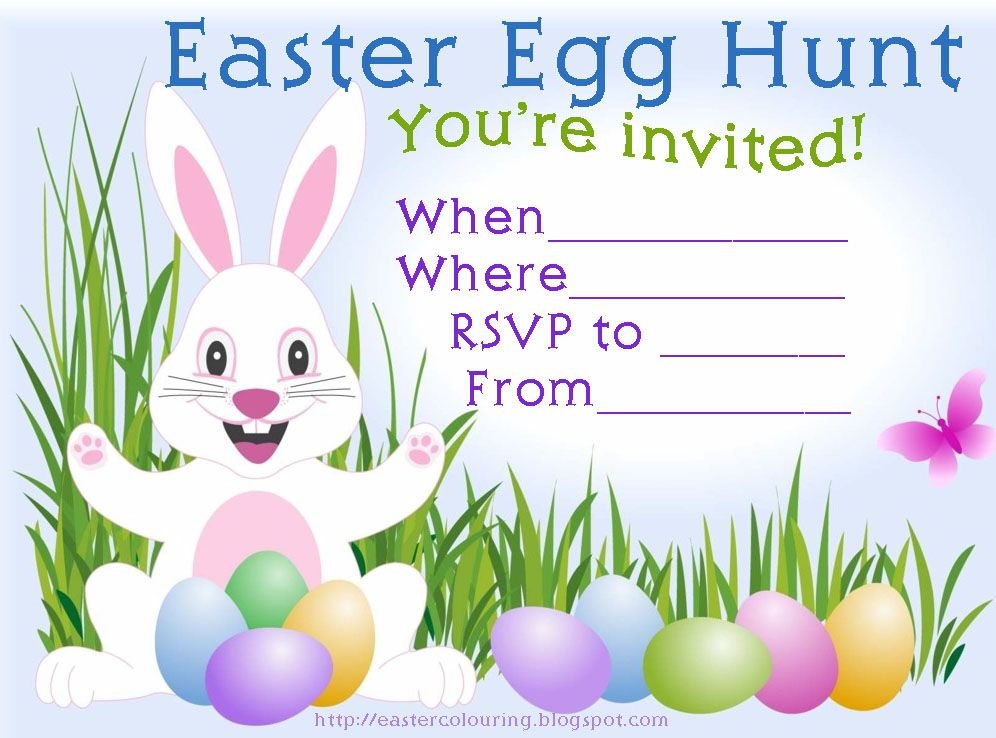 HERE Is An EASTER EGG HUNT INVITATION THE TYPE WHERE AFTER YOU