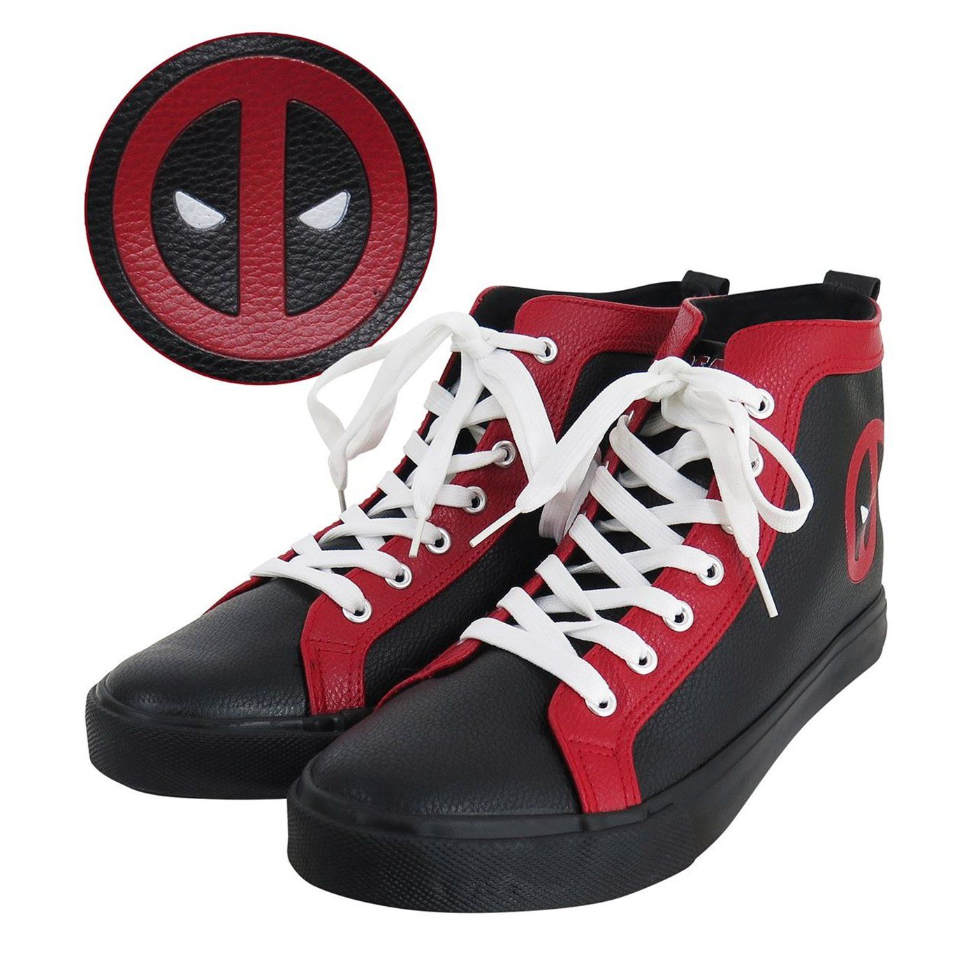 bcdd0e5370 Deadpool Logo Men s High Top Sneakers