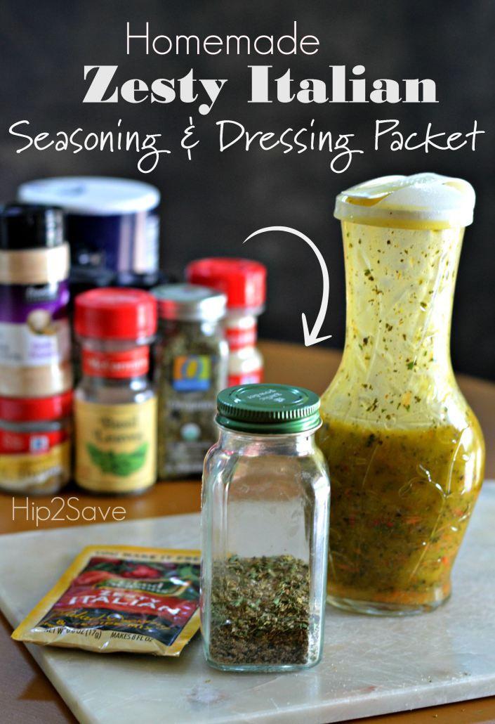 Homemade Zesty Italian Dry Seasoning Packets Recipe Italian Dressing Recipes Italian
