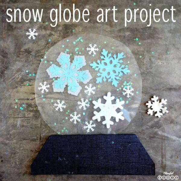 Snow Globe Art Project For Kids She Brooke Winter Art