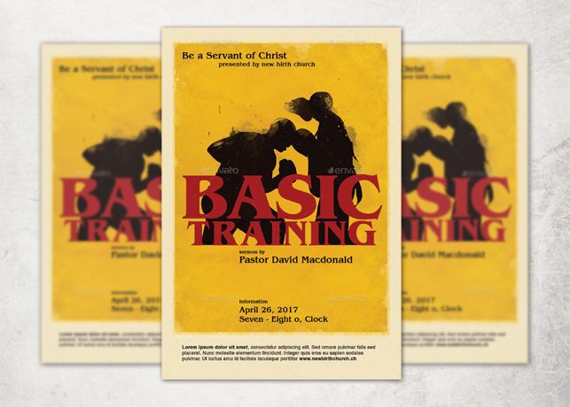 Basic Training Church Flyer Template  Ministry
