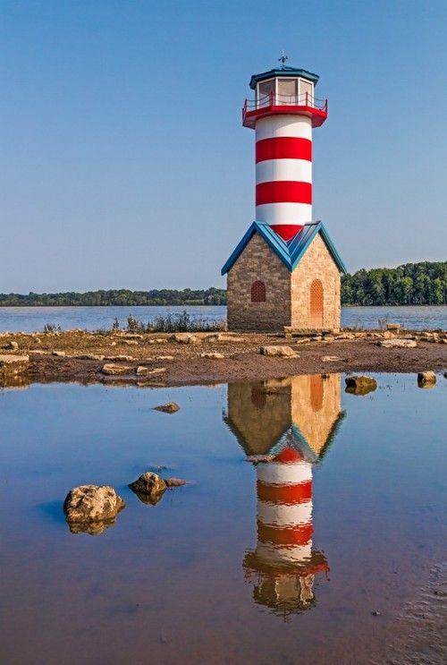 Grafton Lighthouse in Illinois by KennethKeifer