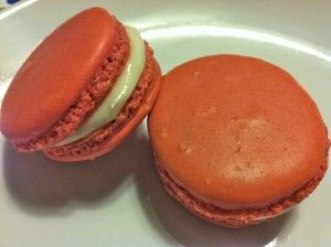 "Red velvet macaron recipe; I made it yesterday and they didn't ""make it to today"", so delicious!"