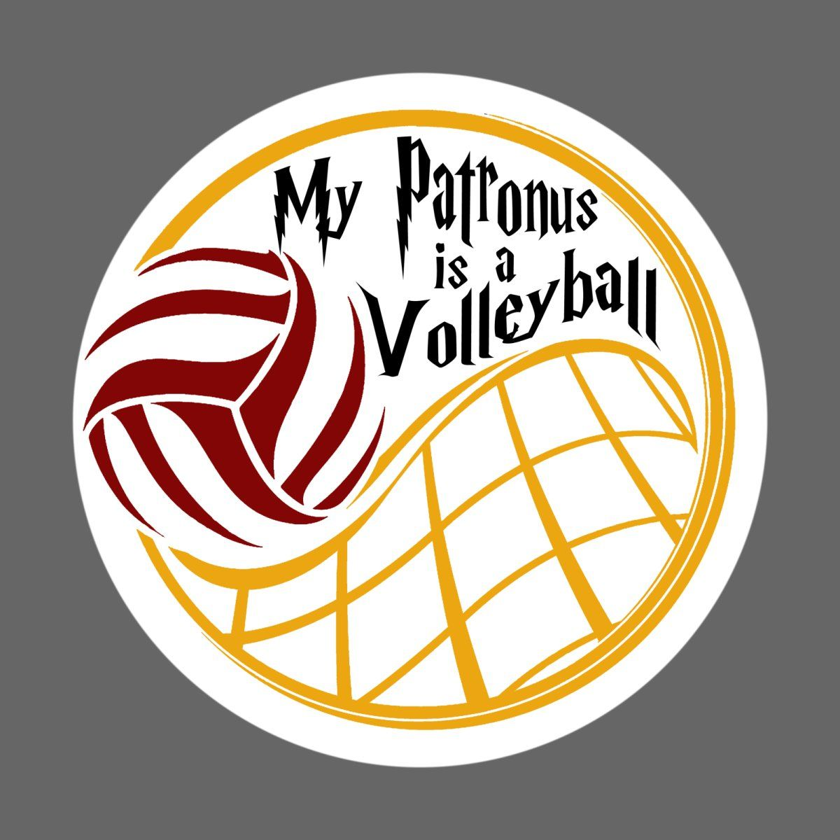 My Patronus Is A Volleyball Gryiffindor Colors Volleyball Drawing Volleyball Workouts Volleyball Shirts
