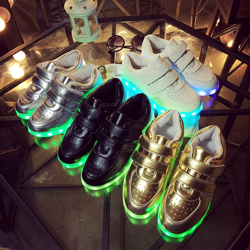 30.00$  Watch more here - http://aikga.worlditems.win/all/product.php?id=32656027916 - Children'S Shoes For Boys And Girls Led Light Sneaker Shoes Kids USB Charging Colorful Luminous Flash Shoe Casual Sports Shoes