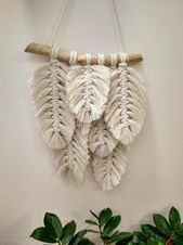 Feather macrame macrame banner yarn wall art modern macrame wall hanging boho wall hanging boho dorm room wall tapestry macrame  Feather macrame macrame banner Yarn wall...