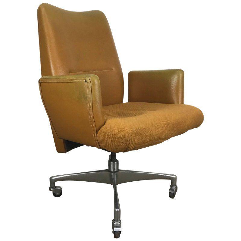 1960s Modernist Executive Oversized Desk Chair Desk Chair Chair
