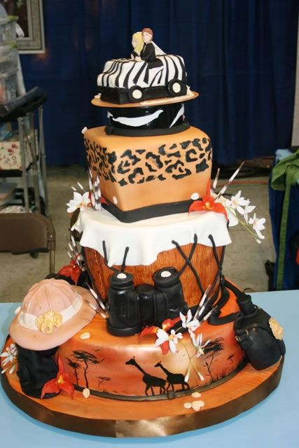african wedding cakes images cake designs with safari theme related posts 10618